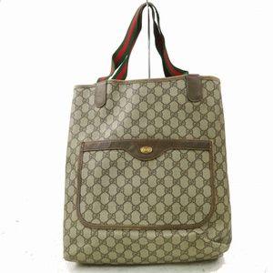 Auth Gucci Beiges Tote Bag #1033L77